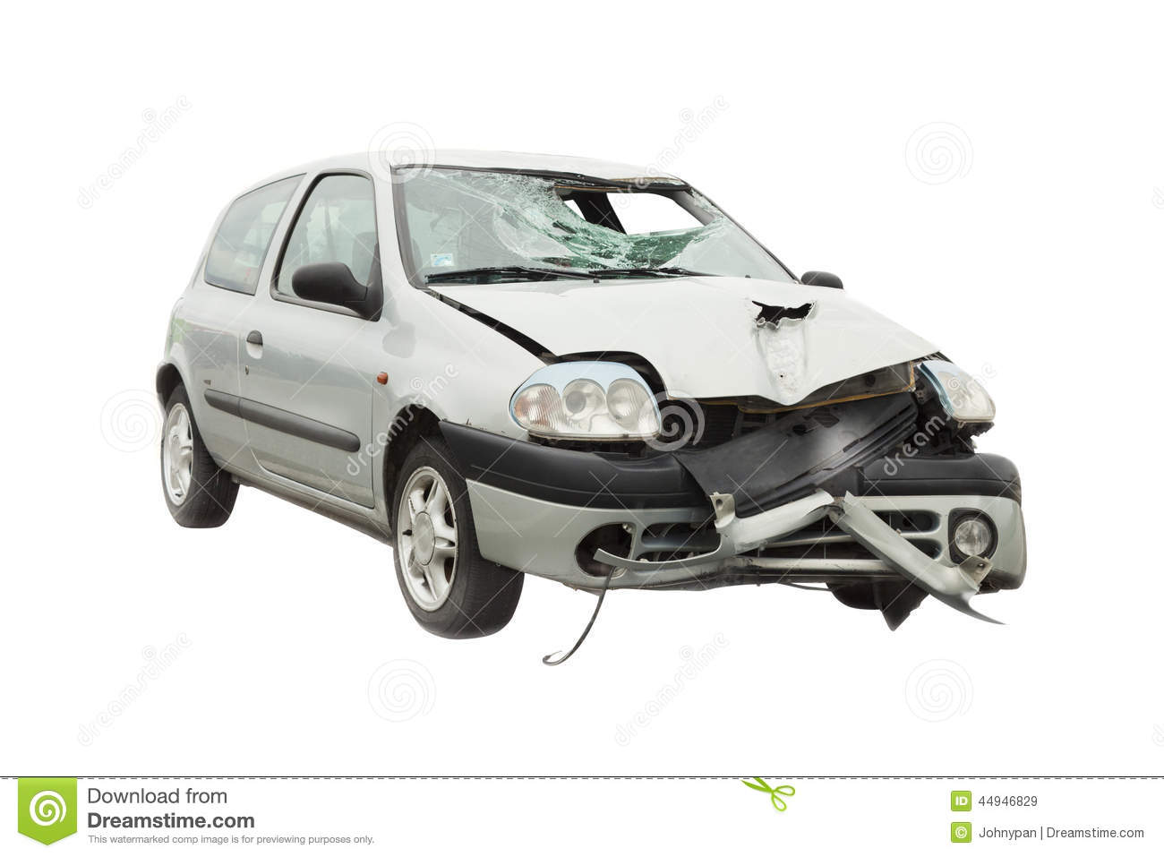 Wrecked car accident stock image. Image of fender, glass - 44946829
