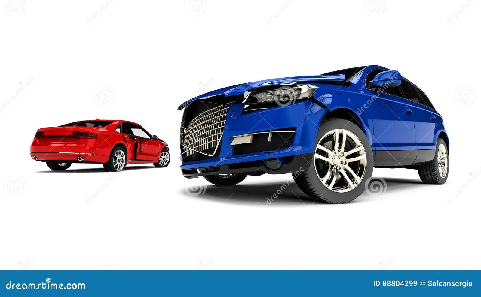 Wrecked Cars Stock Illustration Illustration Of Background 88804299