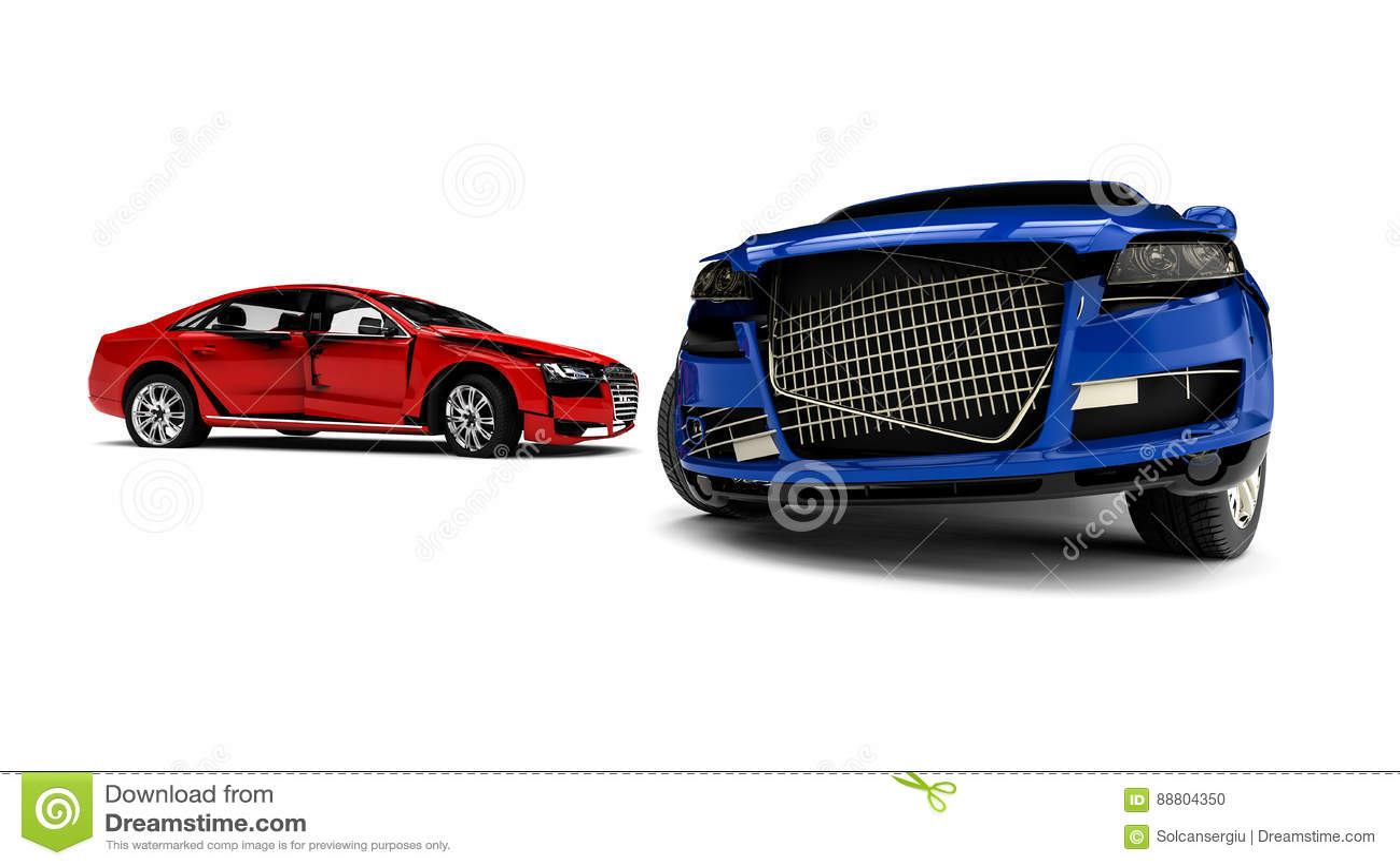 Wrecked Cars Stock Illustration Illustration Of Bumper 88804350