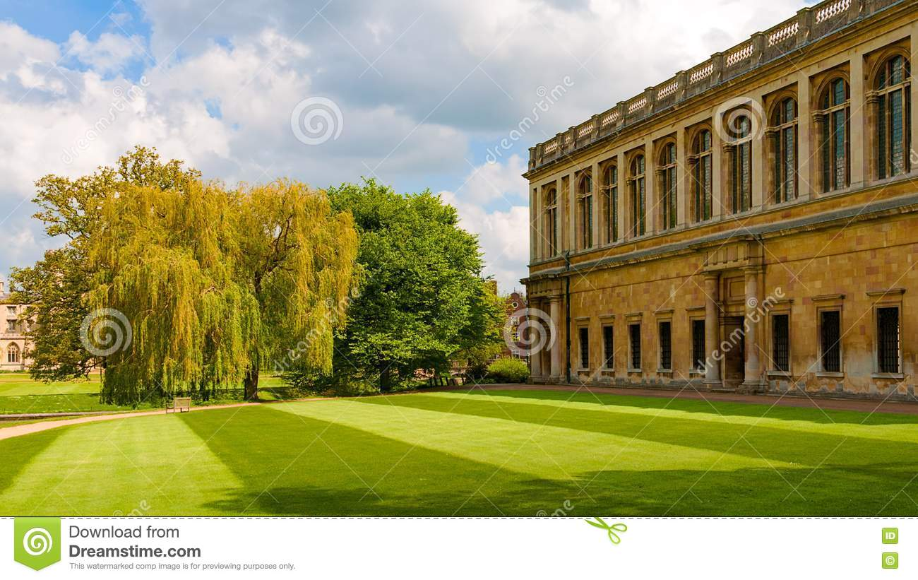 Wren Library In Trinity College Stock Image - Image of grass