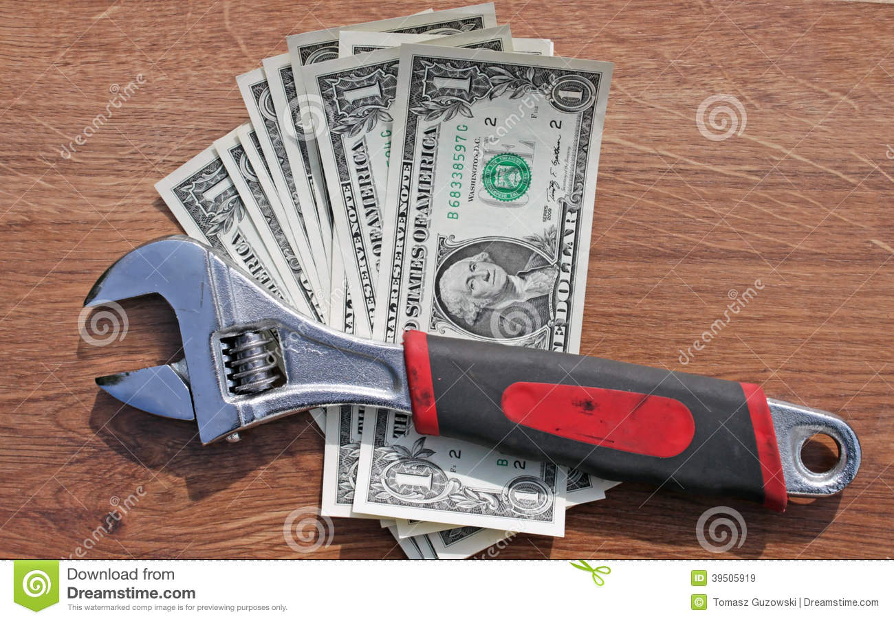 Wrench on dollars