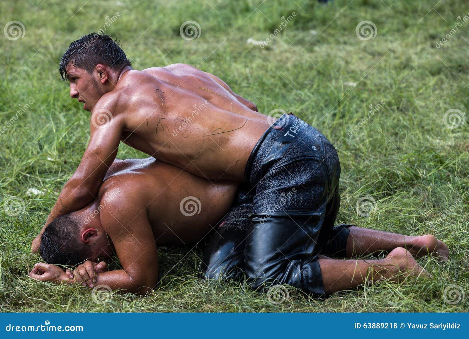 Midget oil wrestling