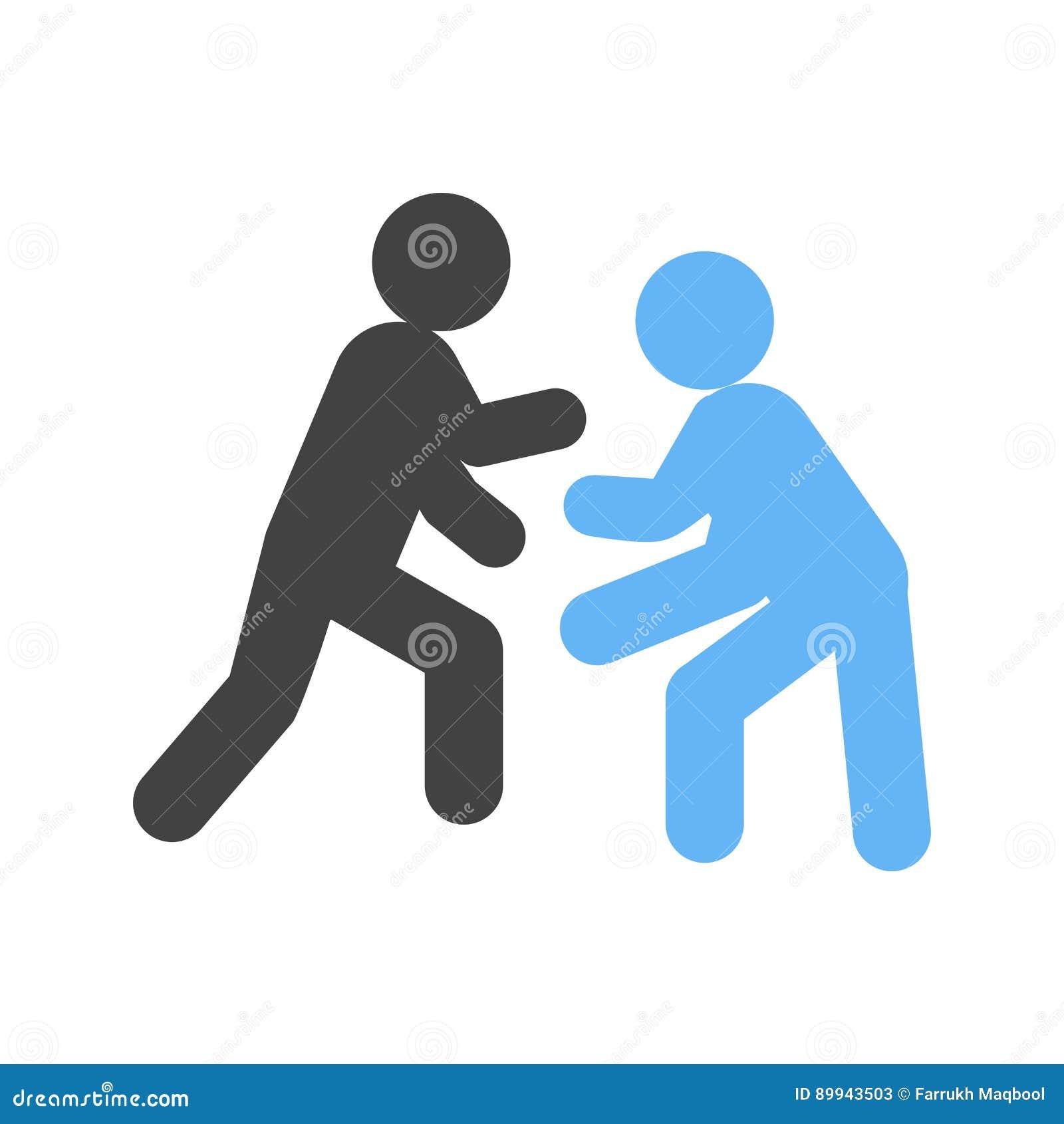 Wrestling ilustração do vetor  Ilustração de conceito - 89943503