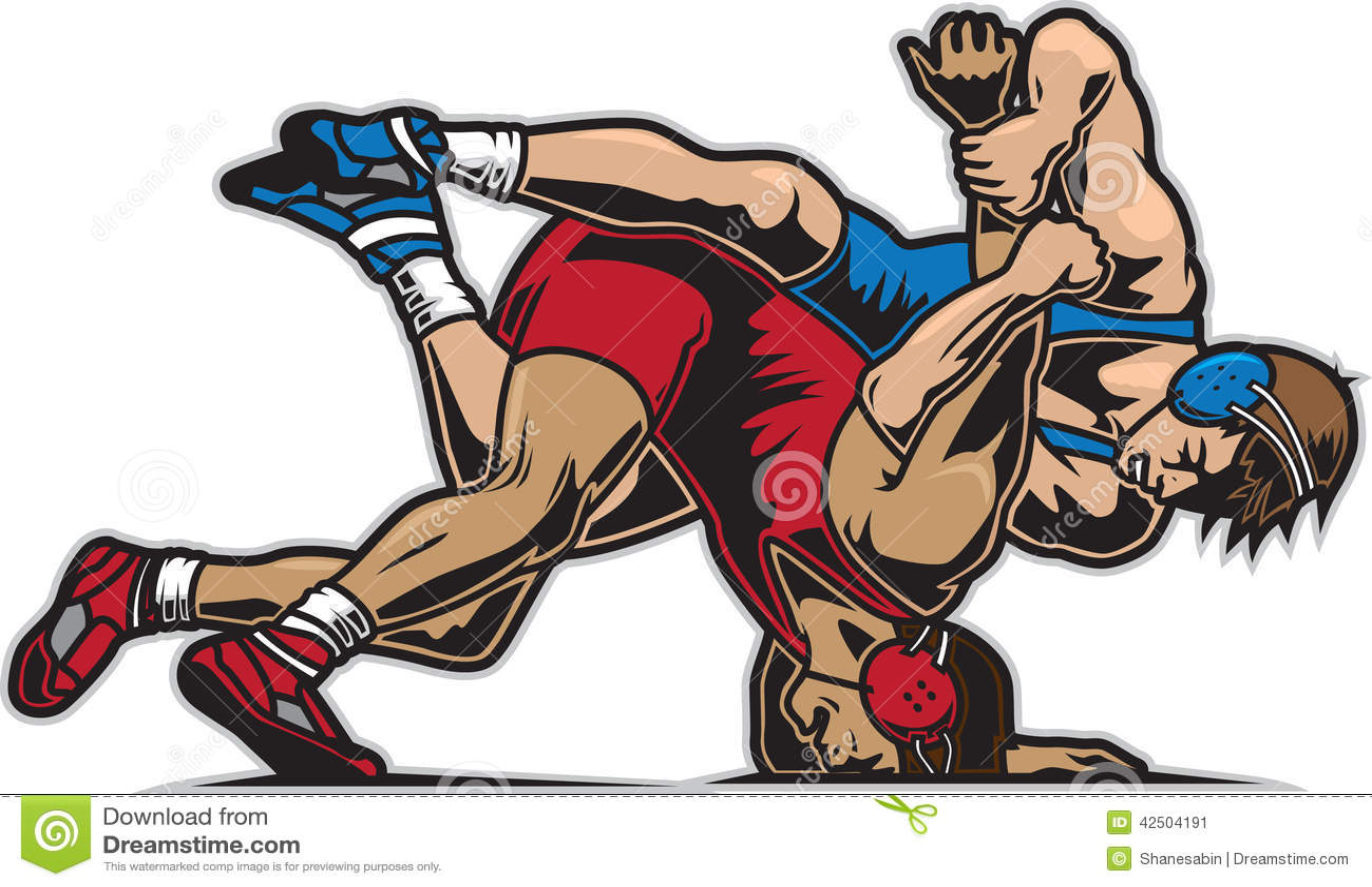 Wrestling Design Clip Art
