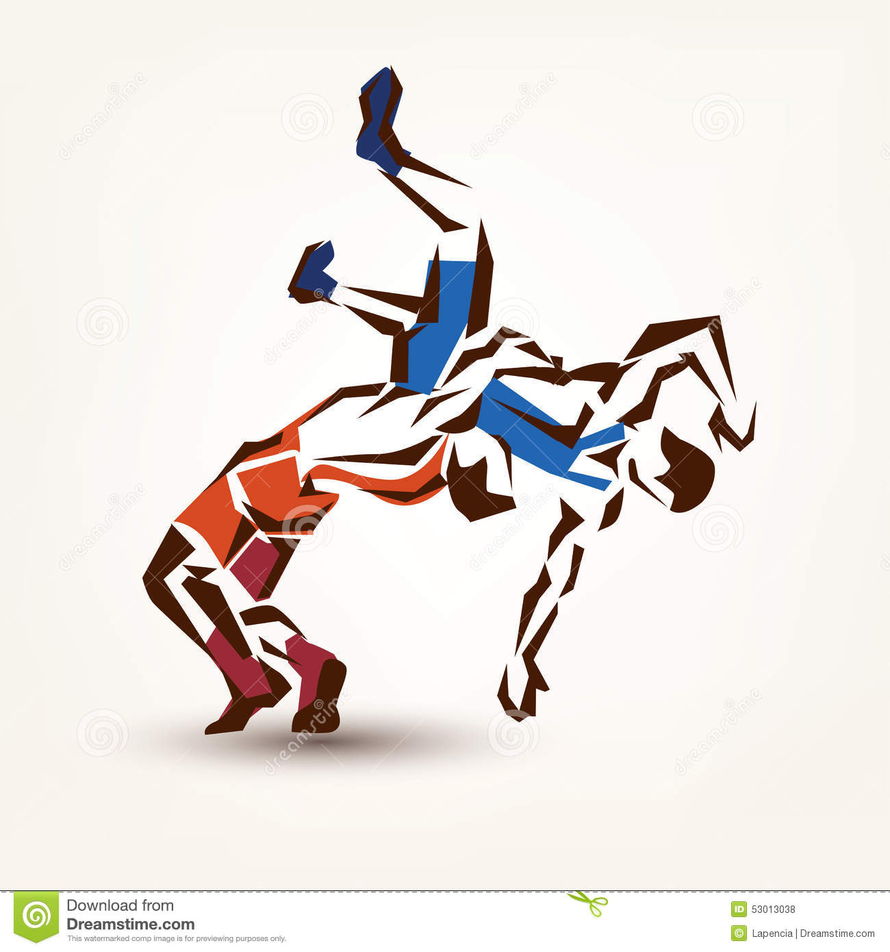 Wrestling symbol, vector silhouette of two athletes.