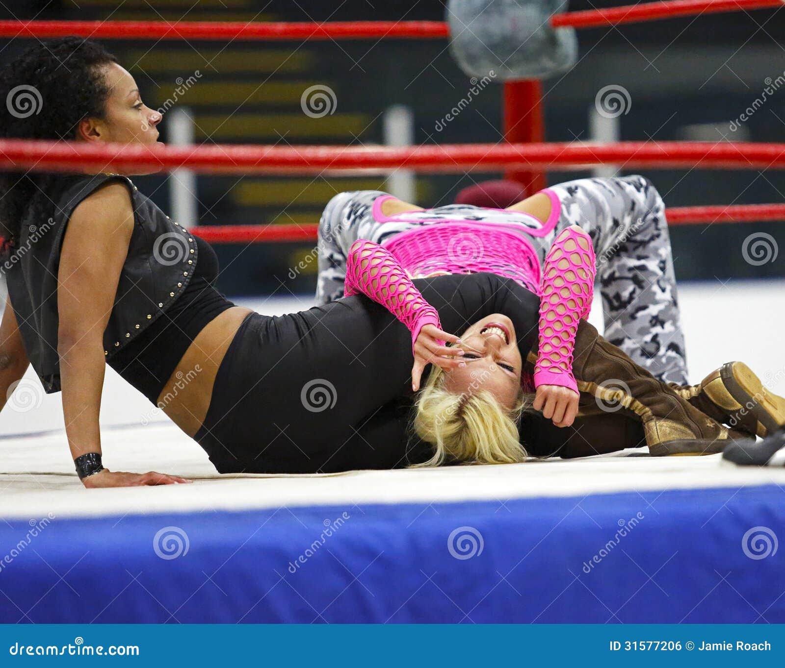 Wrestling Women Action Wrestlers Editorial Photo