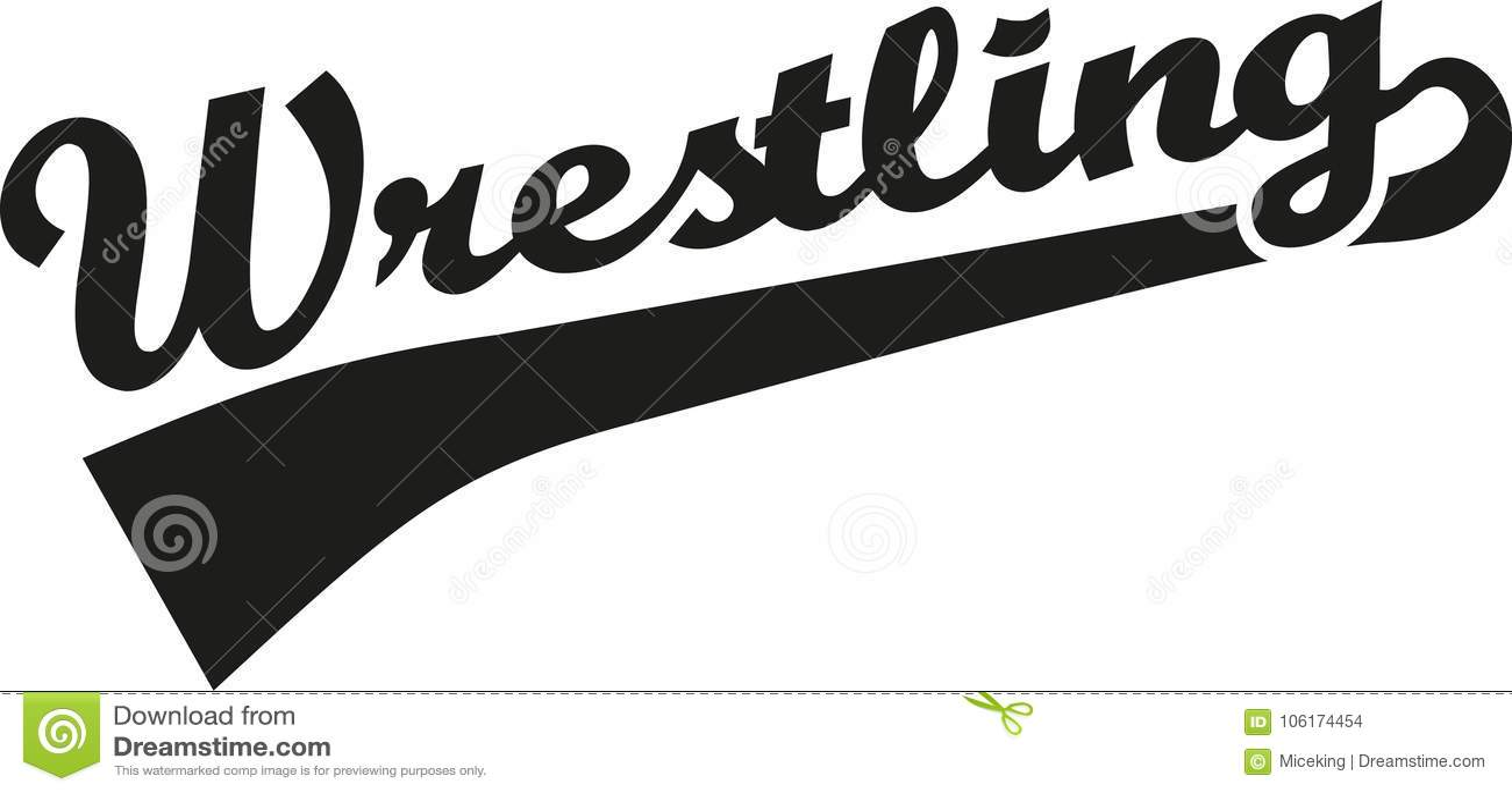 Wrestling Word Stock Vector Illustration Of Calligraphic 106174454