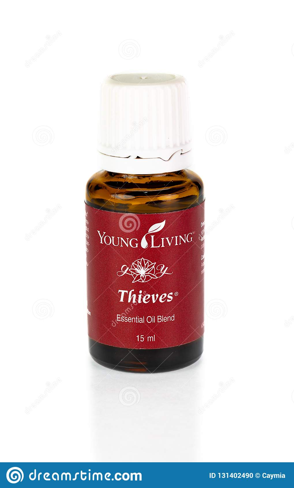 Young Living Thieves Essential Oil Blend On White Background Editorial Image Image Of Brand Background 131402490