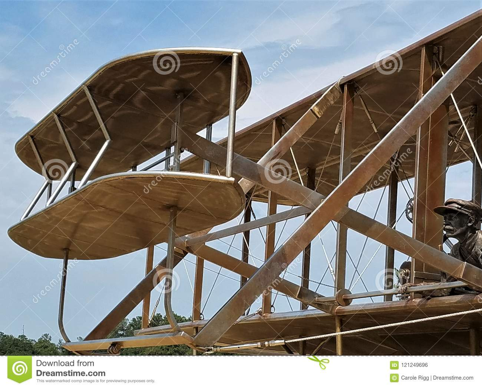 Wright Brothers Plane Replica