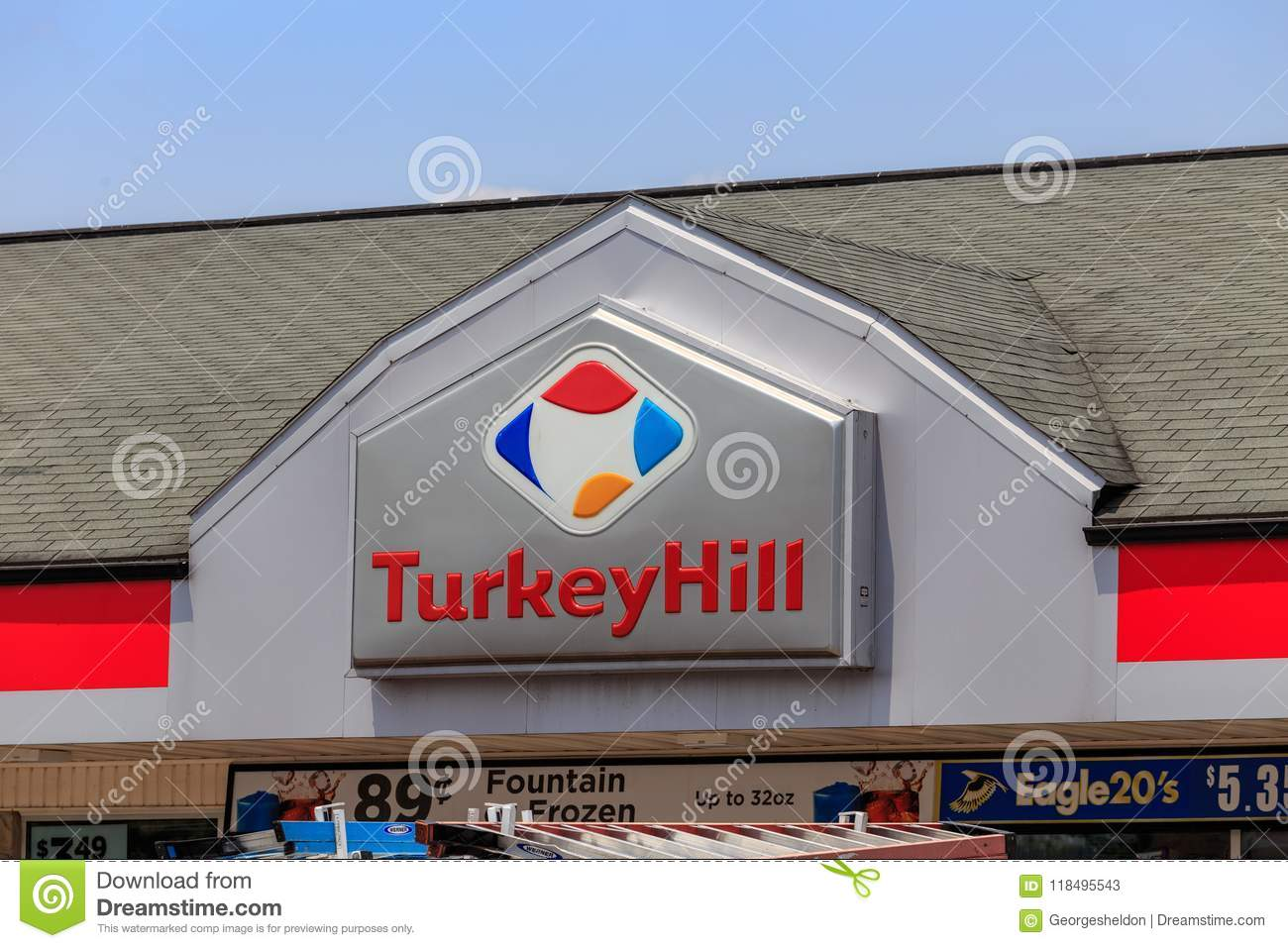 Turkey Hill Minit Markets Sign Editorial Stock Photo