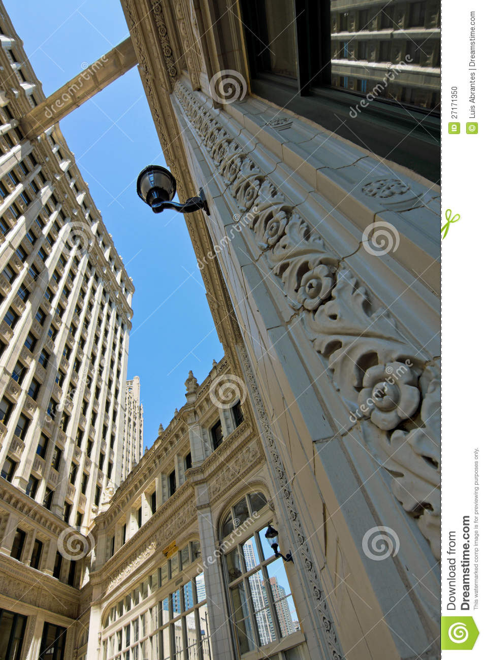 Wrigley building from the ground walkway stock photo image of royalty free stock photo buycottarizona Images