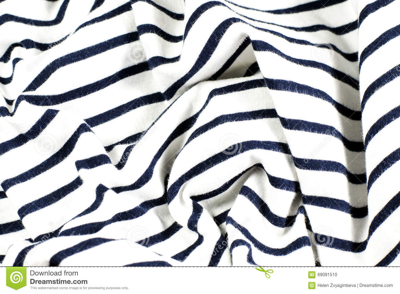 Wrinkled Black And White Striped Fabric Stock Photo Image Of