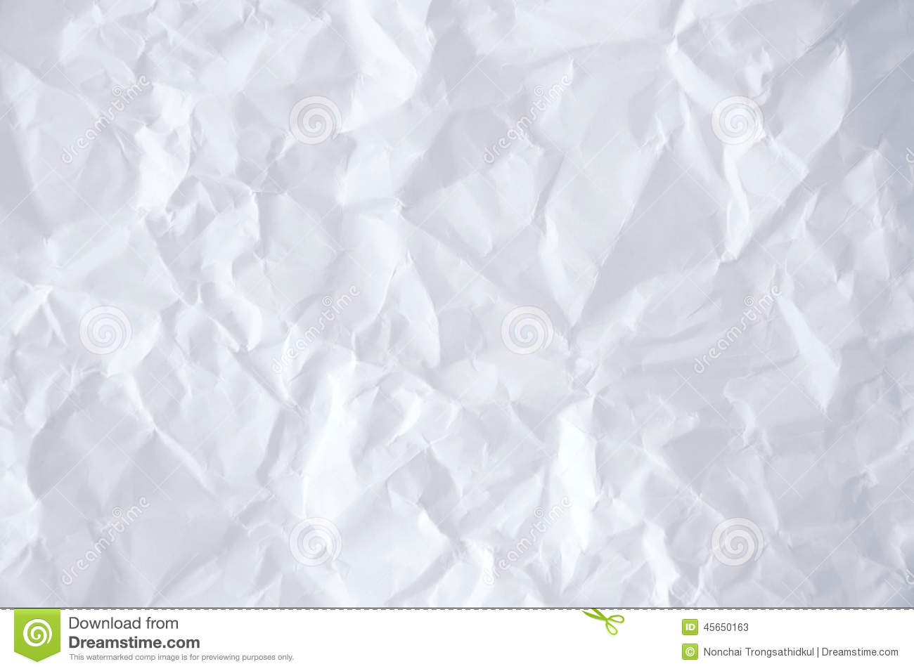 Wrinkled Paper Stock Image Image Of Abstract Crumpled 45650163