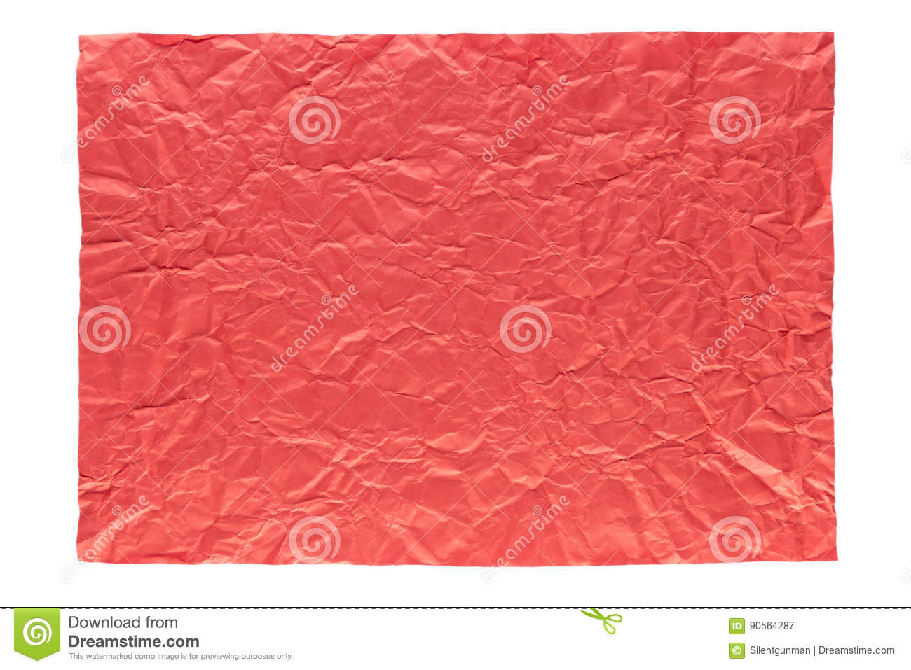 Wrinkled red page