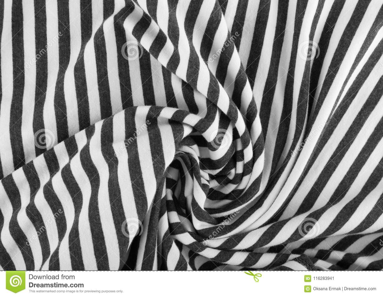 Striped Cotton Fabric Background Stock Image Image Of Print