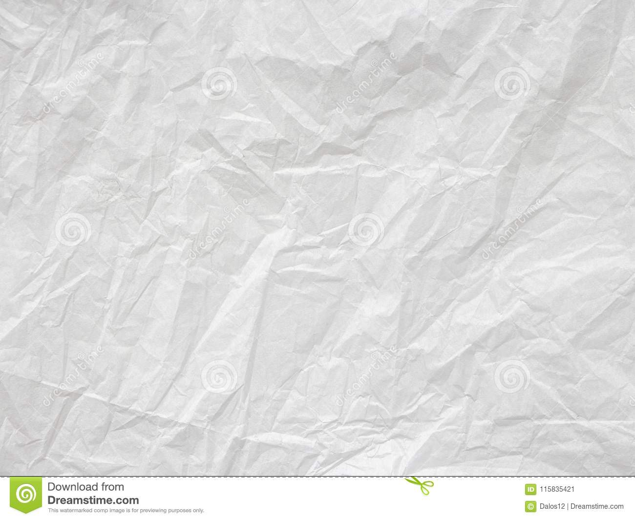 wrinkled white paper texture background element for copy space