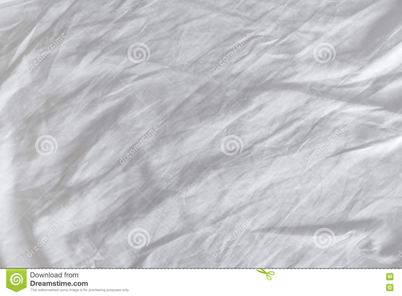 Rumpled bed sheet - Wrinkles On Crumpled White Cotton Sheets Textire Stock Photo