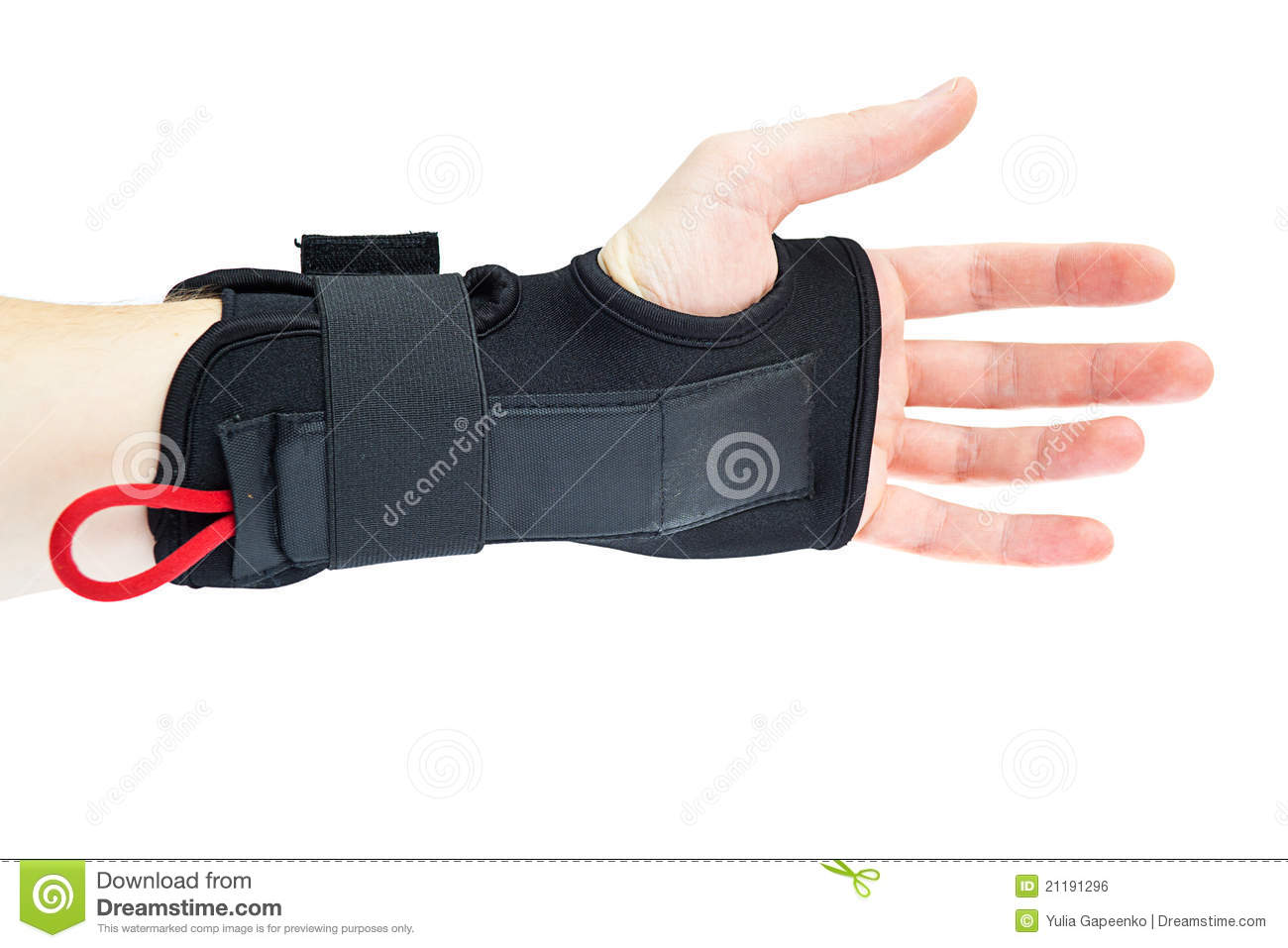Wrist support with hand isolated