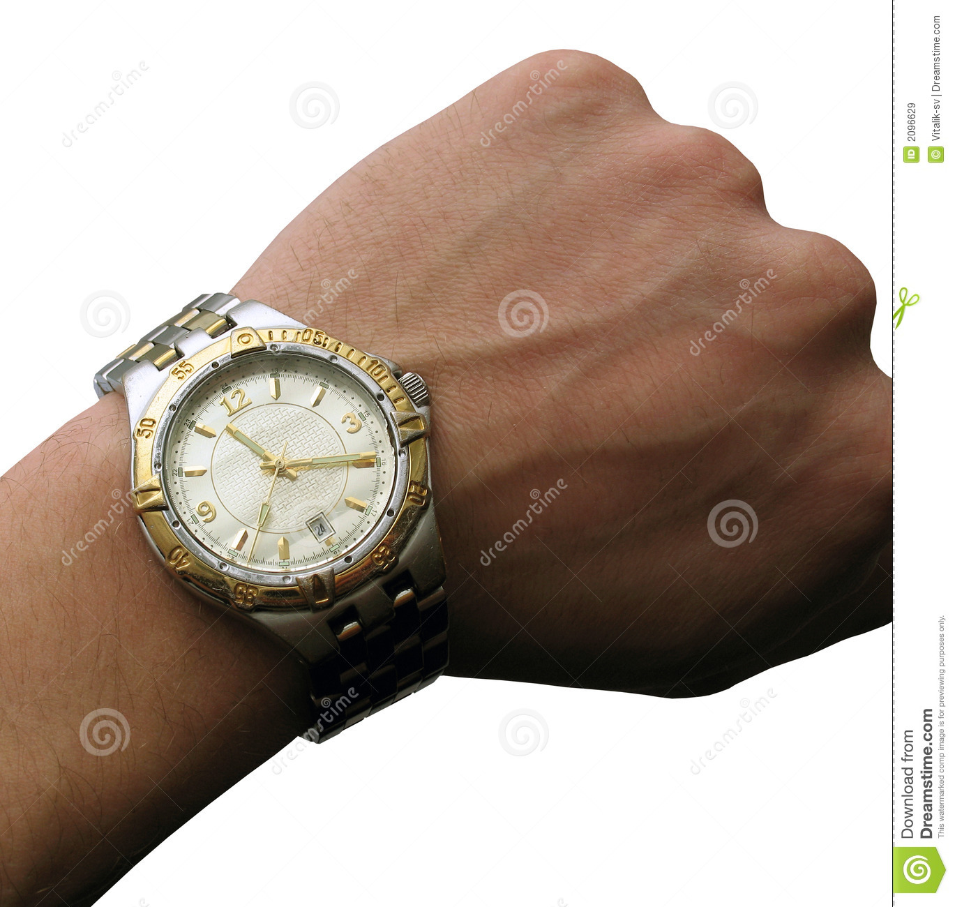 Wrist Watch On Hand Isolated Royalty Free Stock Images ...