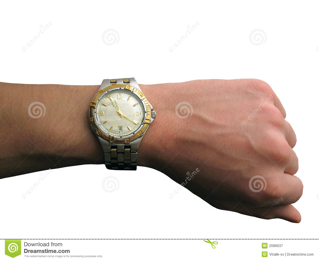 Wrist Watch On Hand Isolated Royalty Free Stock ...