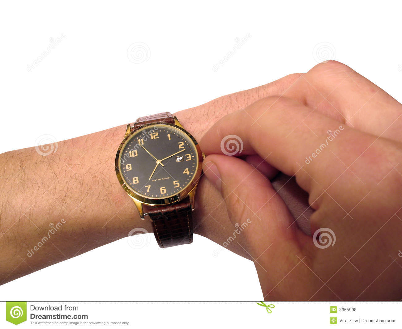 Wrist Watch On Hand Isolated Royalty Free Stock Photos ...
