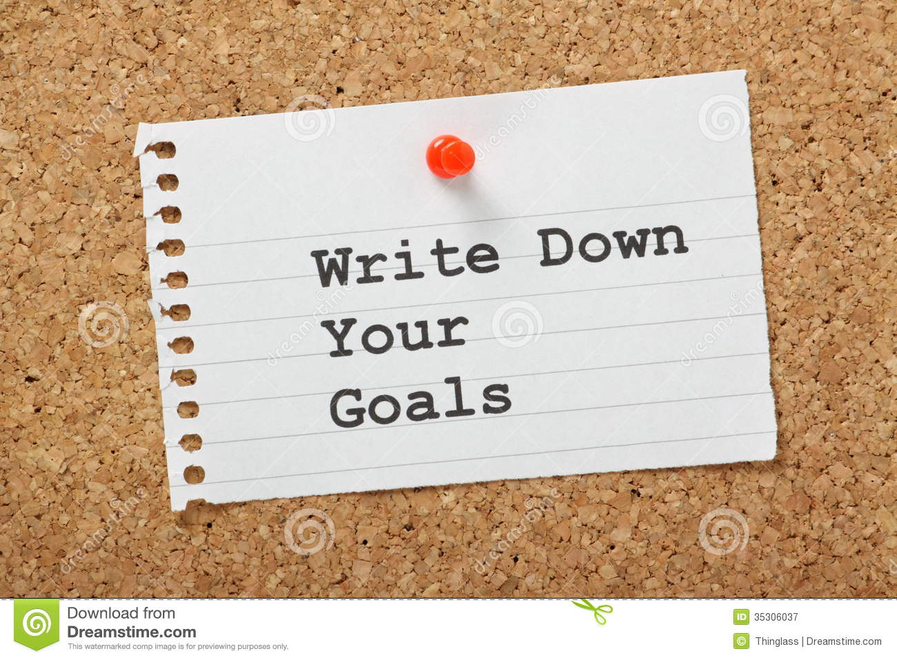 write down your goals stock image image of dreams reminder  write down your goals