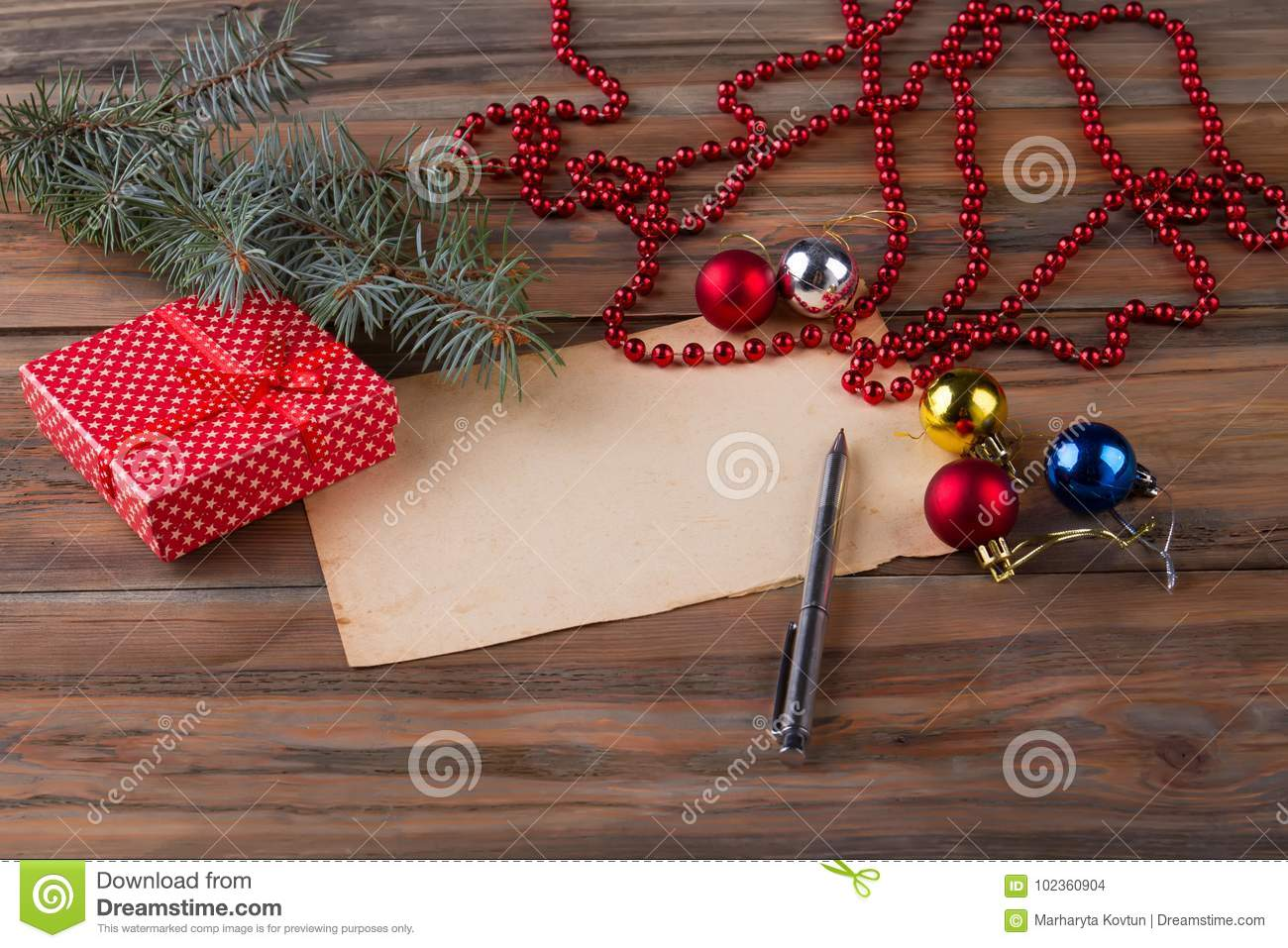 Write A Greeting Letter Stock Photo Image Of Holiday