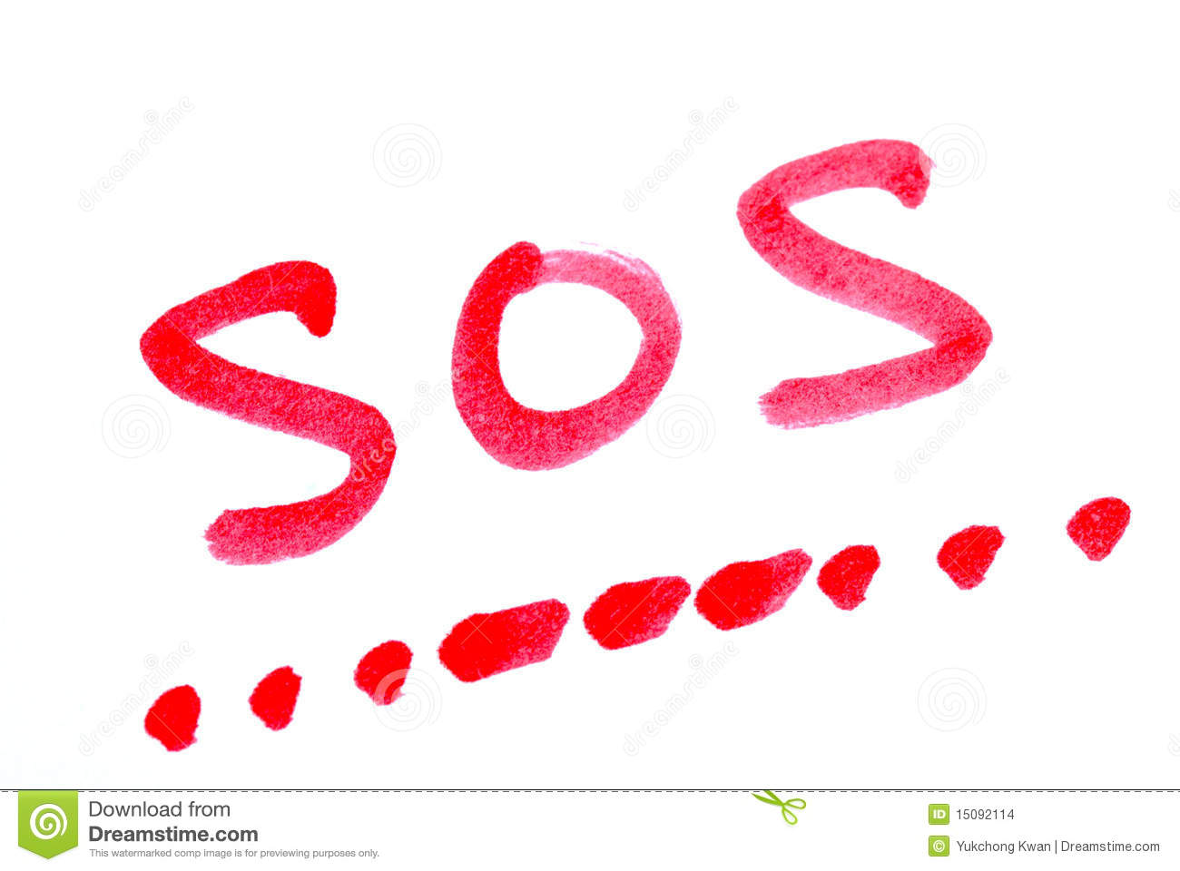 Write SOS With Its Morse Code Stock Images - Image: 15092114