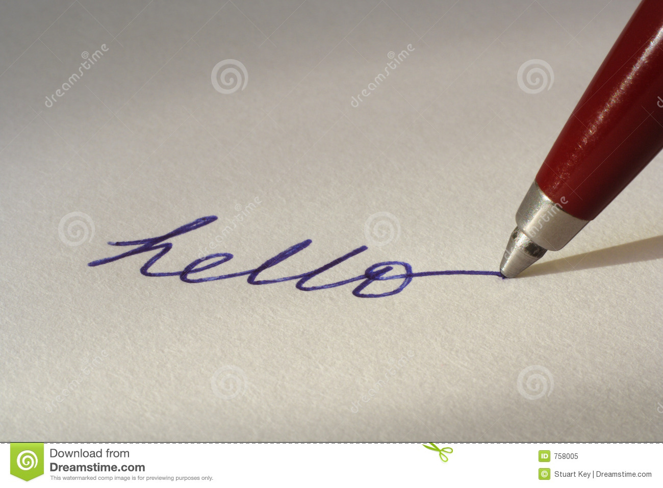 Writing With Ballpoint Pen Royalty Free Stock Photo