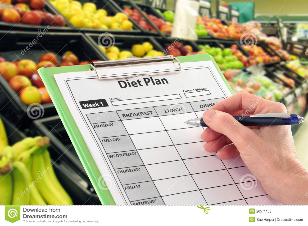 Writing a Diet Plan by Supermarket Fruit
