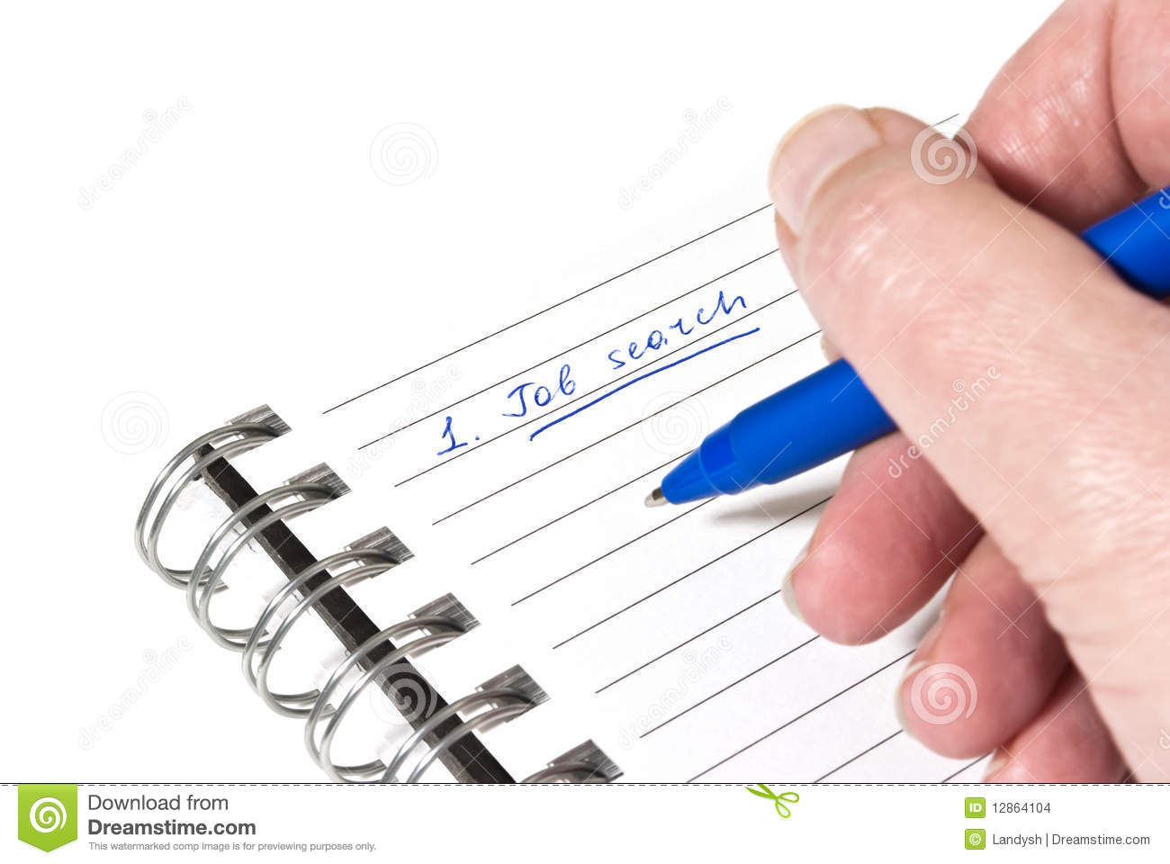 writing down a job search plan stock images image  writing down a job search plan