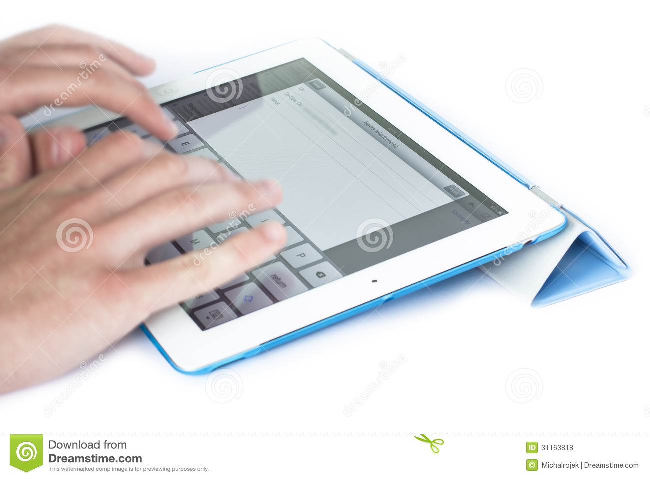 How to write an email on my ipad