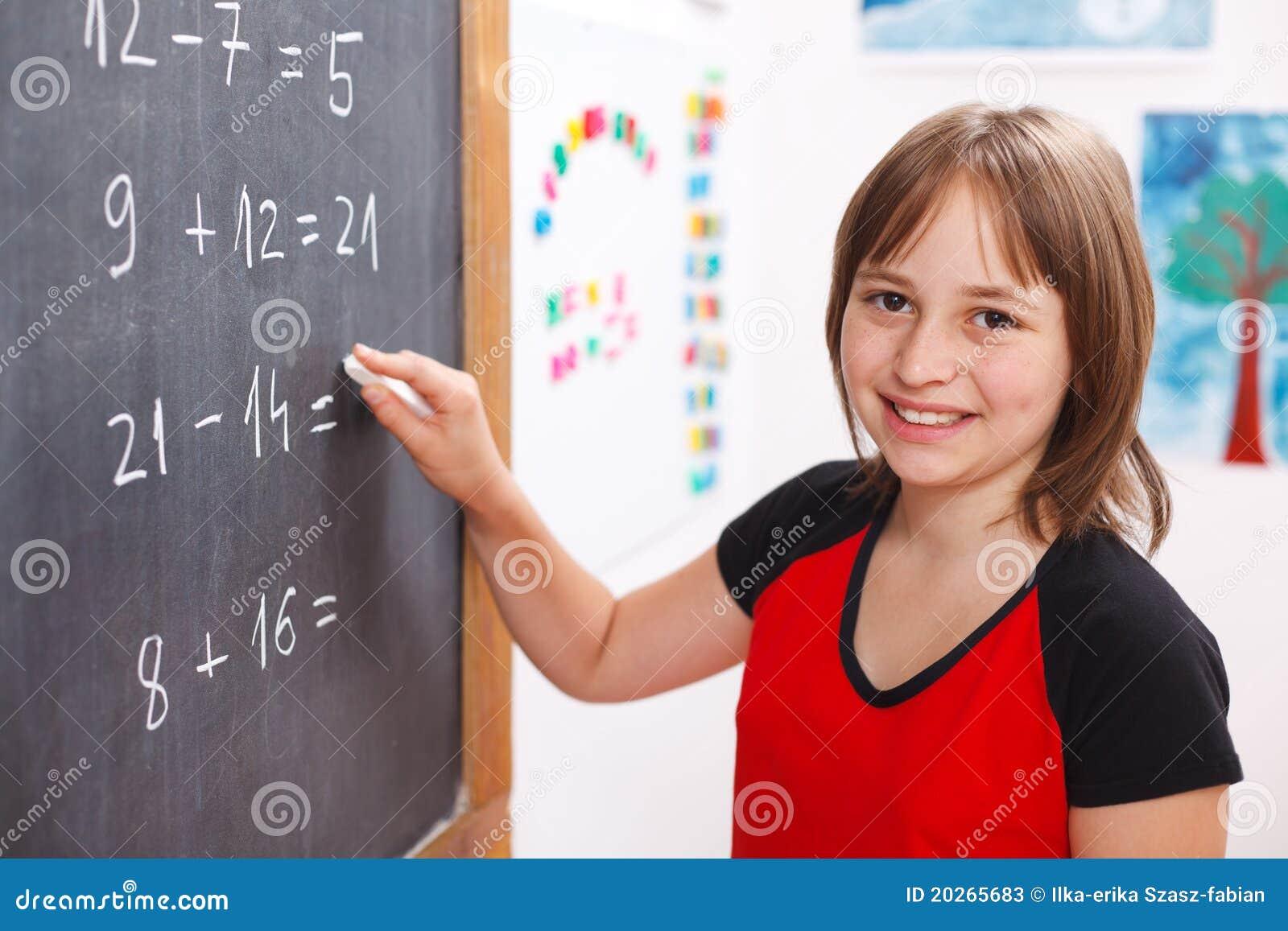 Writing för lösning för tavlaflickaskola