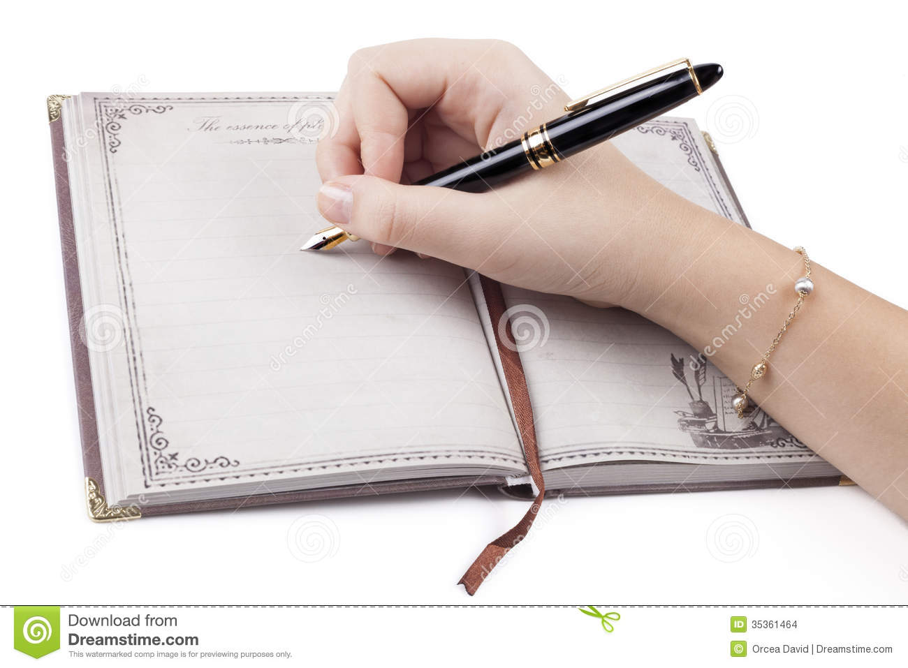 Writing Stock Images Image 35361464