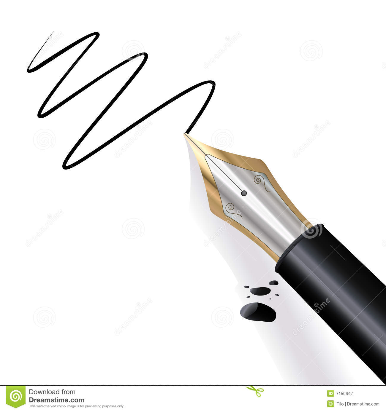 Writing Fountain Pen Stock Vector Illustration Of Vector