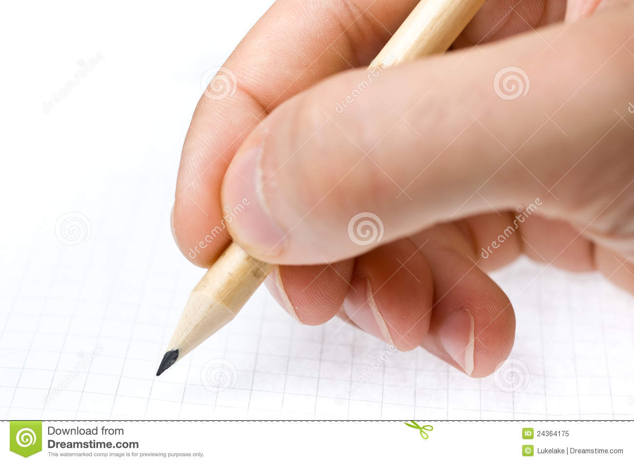 Girl Writes A Pen On A Piece Of Paper Royalty Free Stock Image - Image ...