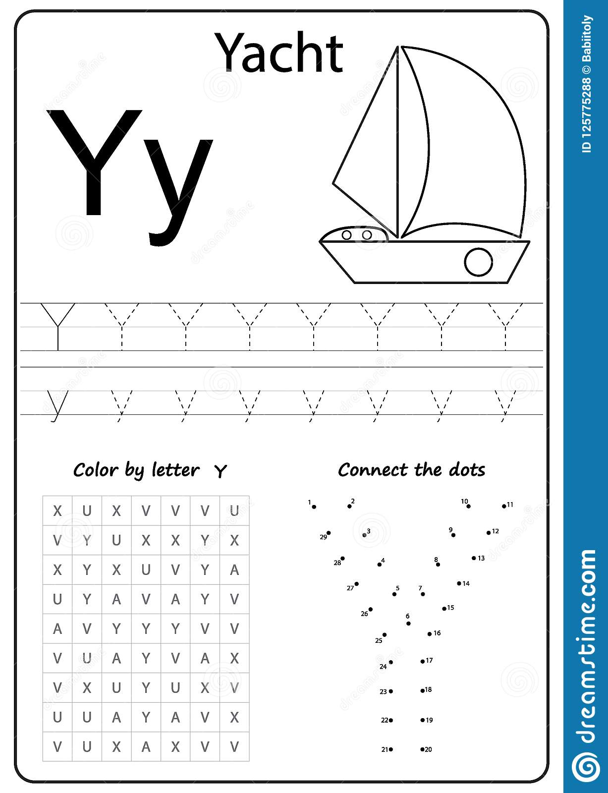 writing letter y worksheet writing a z alphabet exercises game for kids stock vector. Black Bedroom Furniture Sets. Home Design Ideas