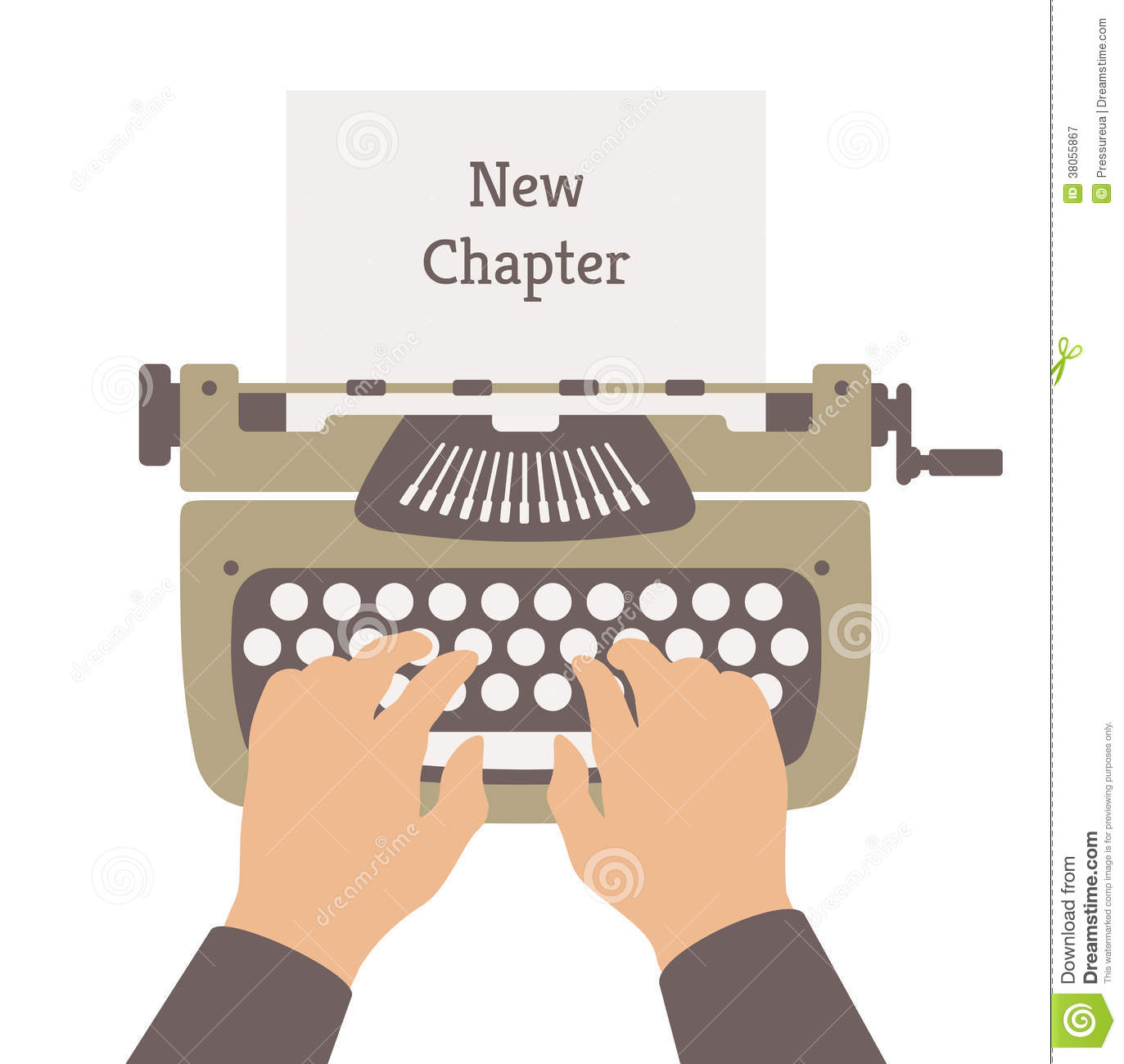illustration concept of author writing a new chapter in a novel story rsU2eHTq
