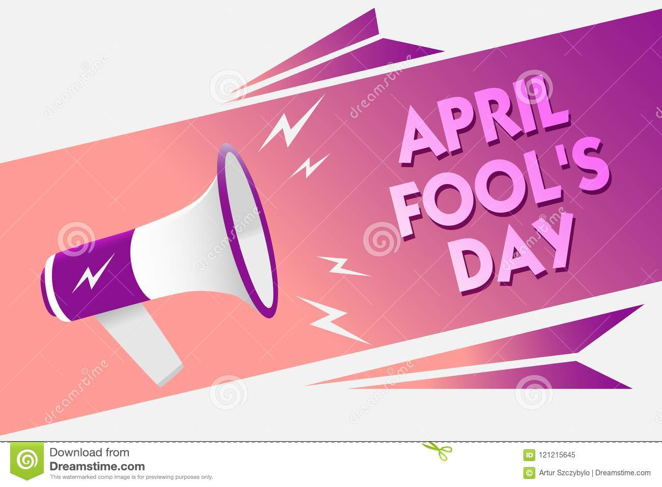 Writing note showing April Fool s is Day. Business photo showcasing Practical jokes humor pranks Celebration funny foolish Sound s