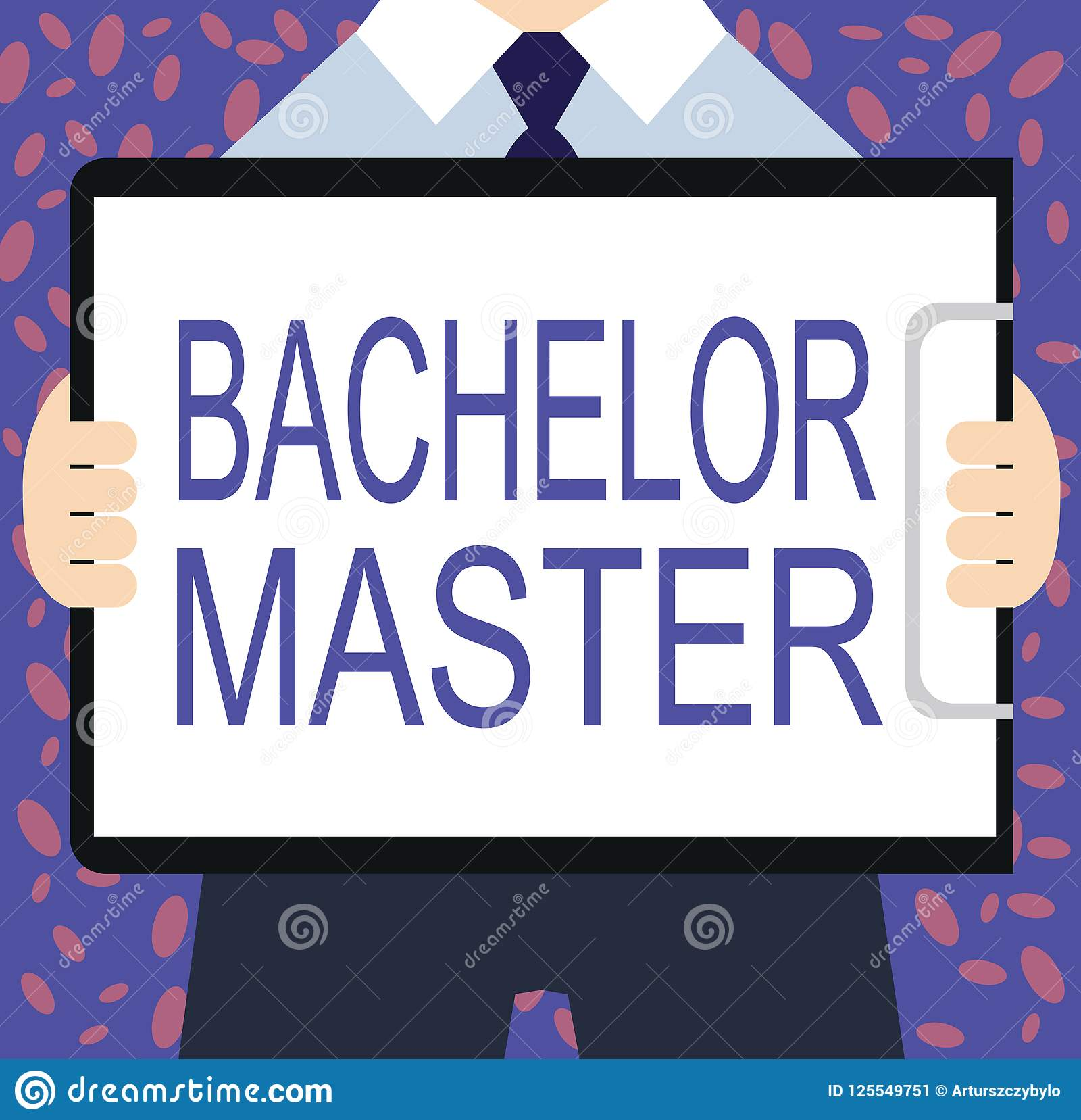 writing note showing bachelor master business photo