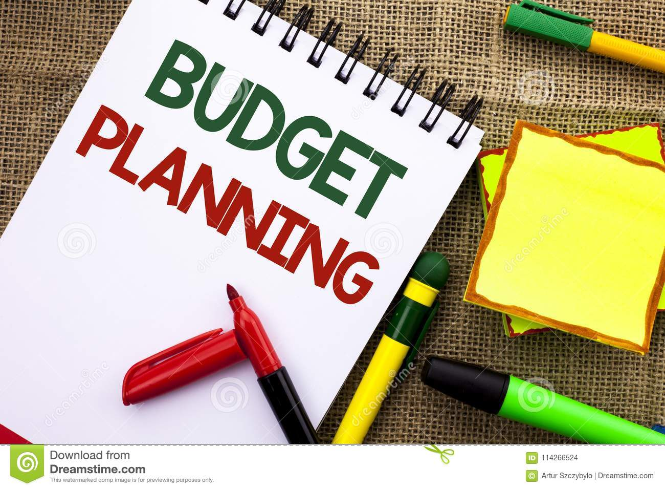 writing note showing budget planning business photo showcasing