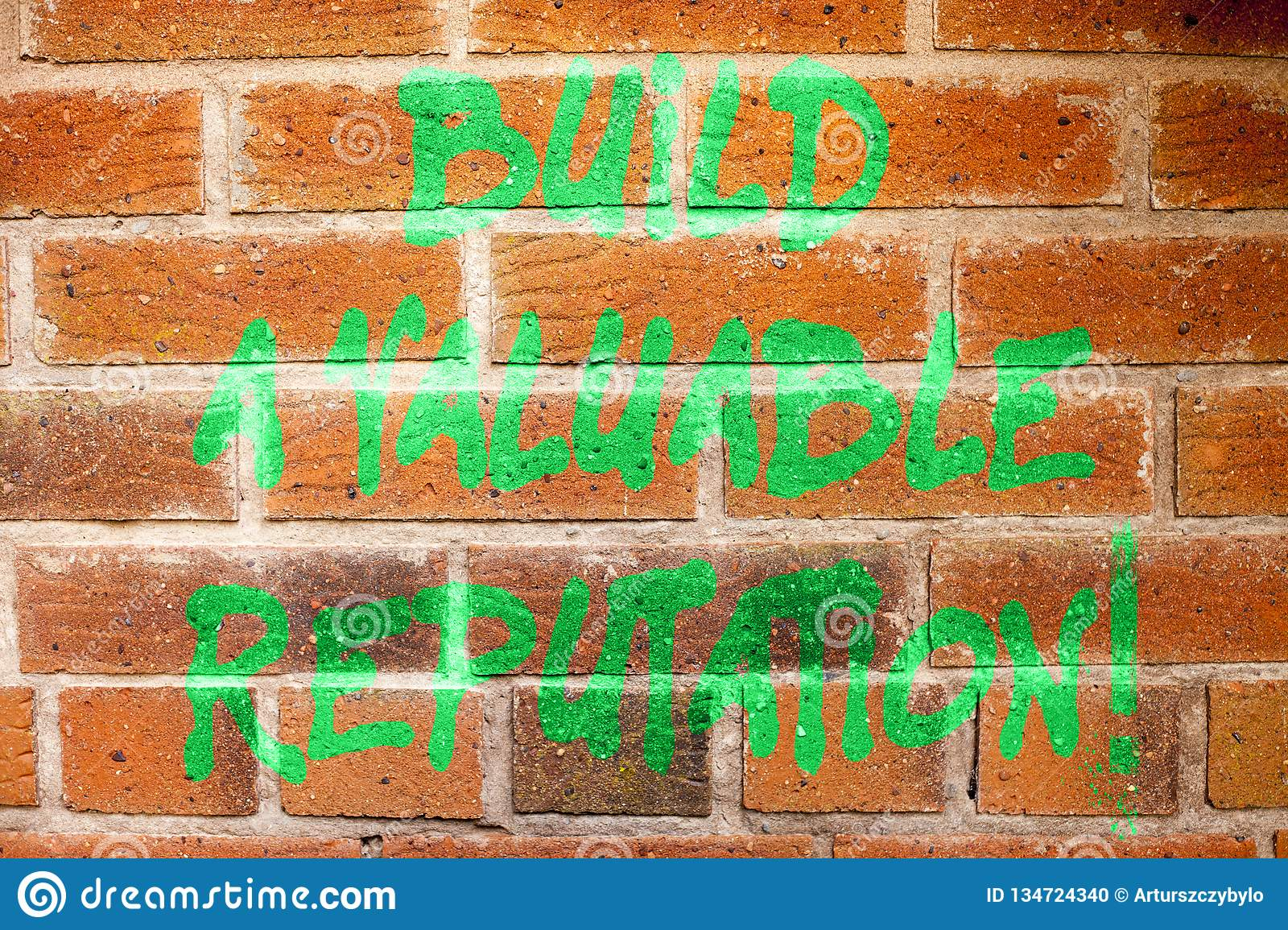 Writing note showing Build A Valuable Reputation. Business photo showcasing Good service for great customer reviews.