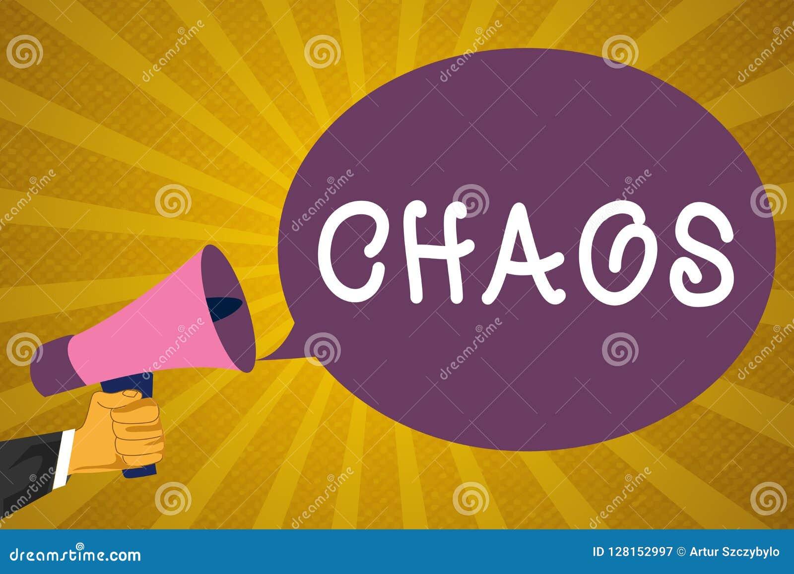 Writing Note Showing Chaos  Business Photo Showcasing
