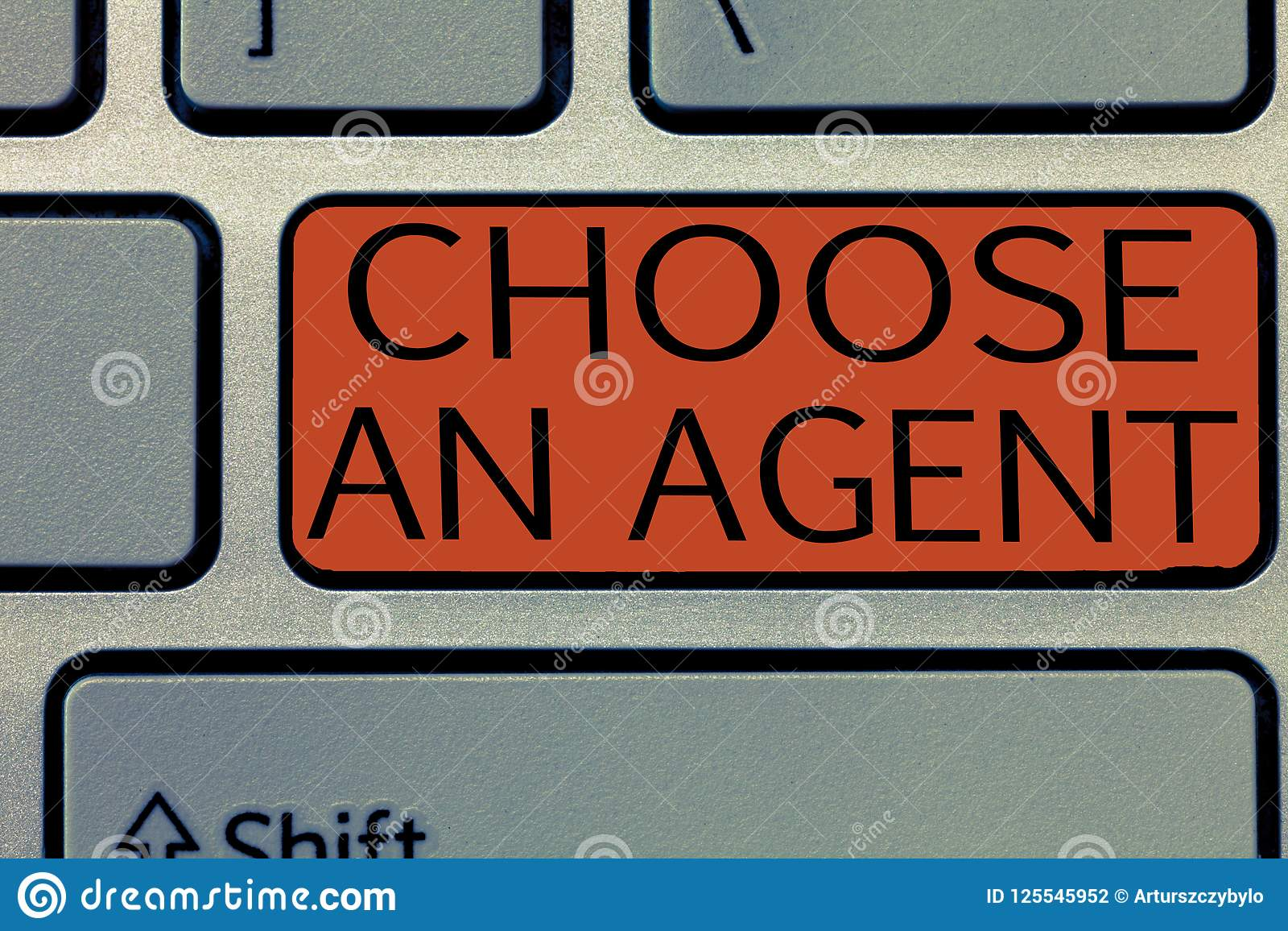 Writing note showing Choose An Agent. Business photo showcasing Choose someone who chooses decisions on behalf of you