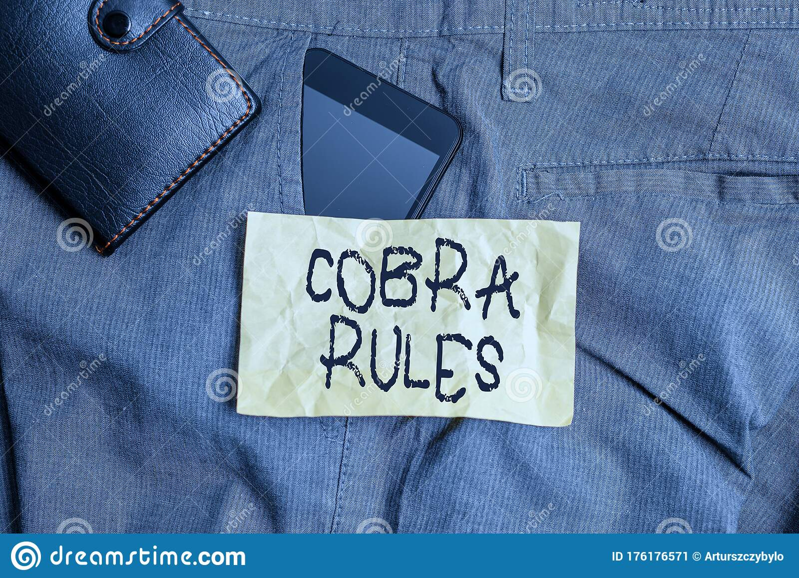 Writing Note Showing Cobra Rules. Business Photo ...