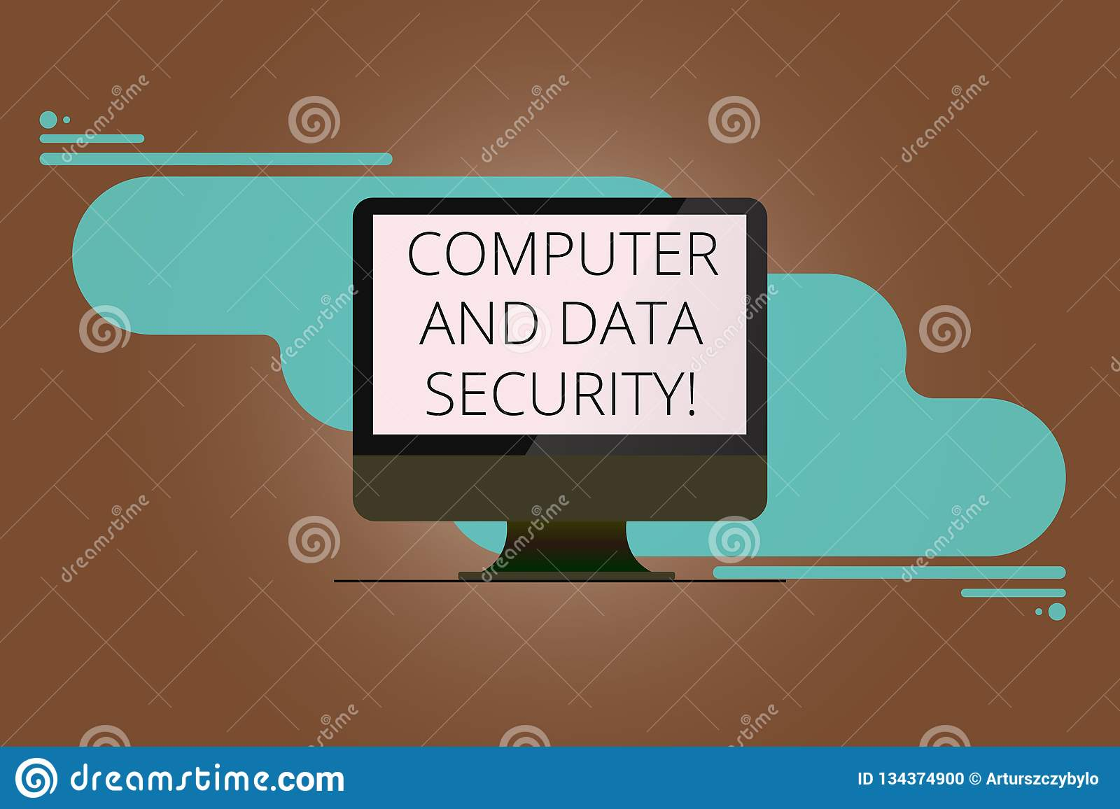 Writing Note Showing Computer And Data Security  Business