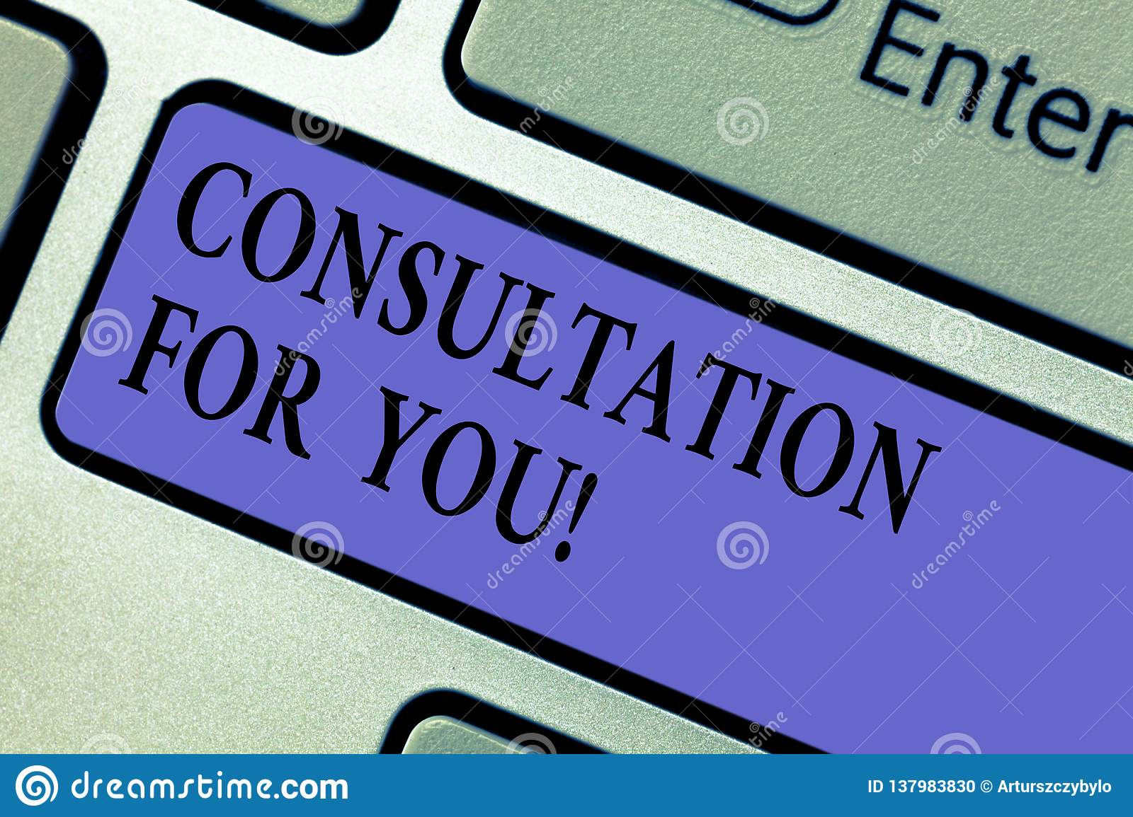 Writing Note Showing Consultation For You  Business Photo