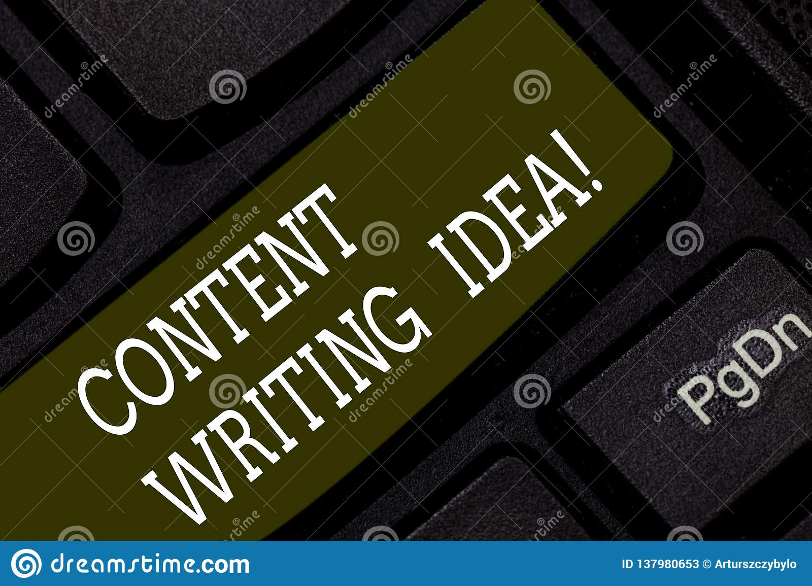 Writing note showing Content Writing Idea. Business photo showcasing Concepts on writing campaigns to promote product