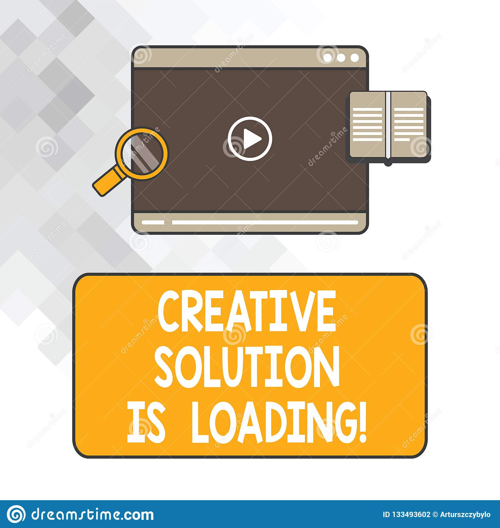 Writing Note Showing Creative Solution Is Loading  Business