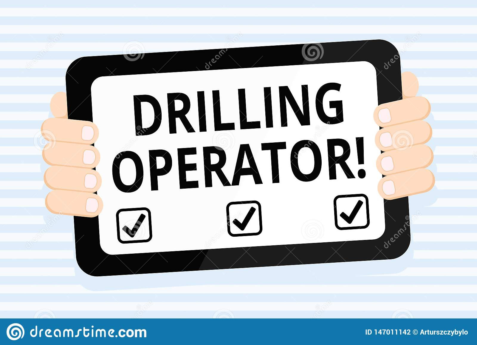 Writing note showing Drilling Operator. Business photo showcasing someone that do the rigging and drilling operations